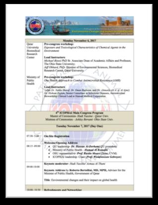 ICOPHAI 2017 Scientific Program | ICOPHAI